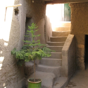 Front entry to Berber home, reminds me of a House & Home spread for alternative houses, Morocco