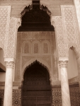 Beautiful carvings in the Saadian Tombs,Marrakech