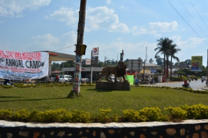 Lion in the roundabout, Fort Portal