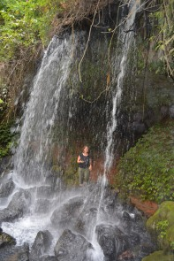 The waterfalls at the Amabere Caves