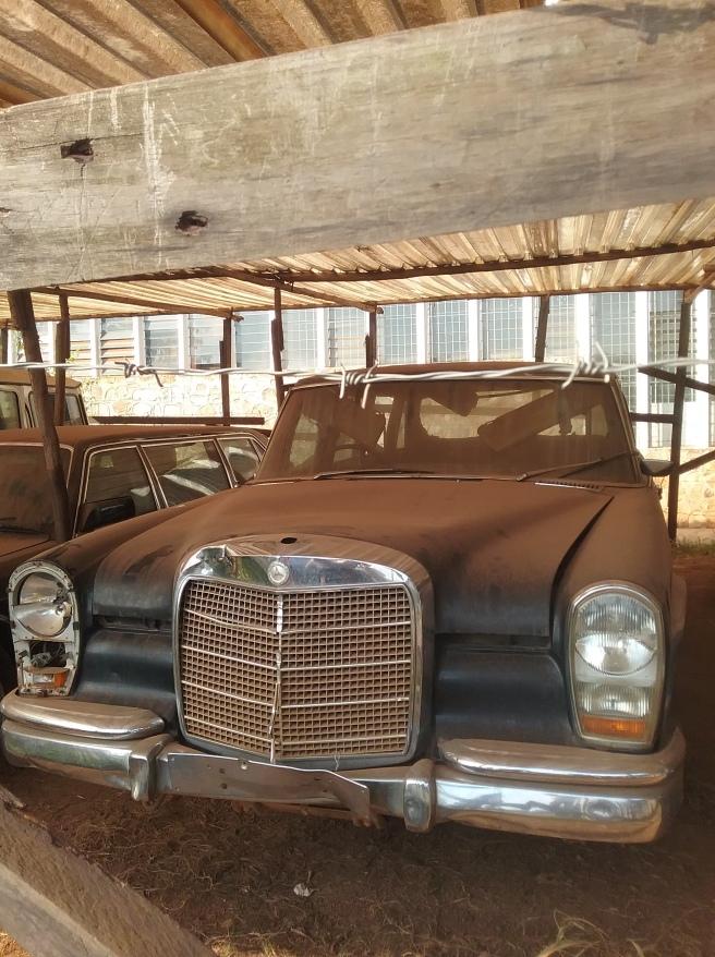 Idi Amin's armoured car at the Uganda Museum
